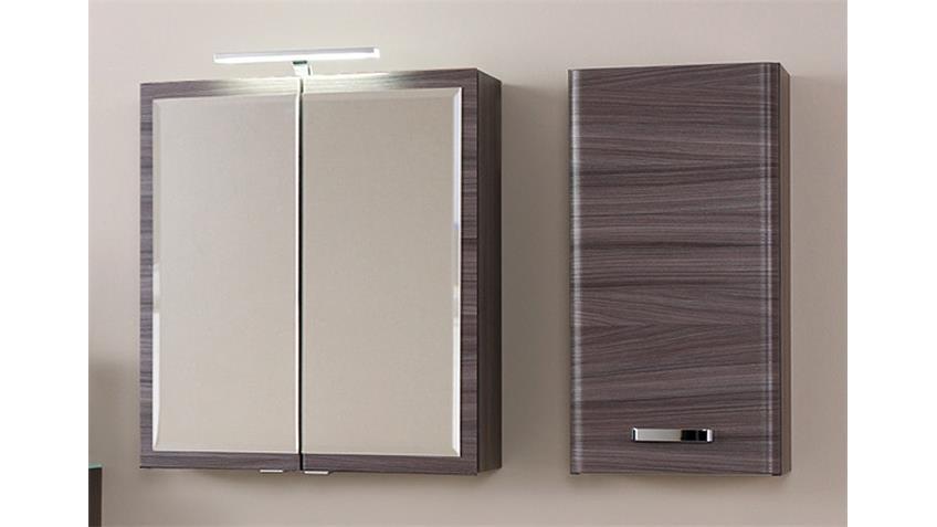 Badezimmer Set 1 PHÖNIX Eiche dunkel Glas weiß lackiert