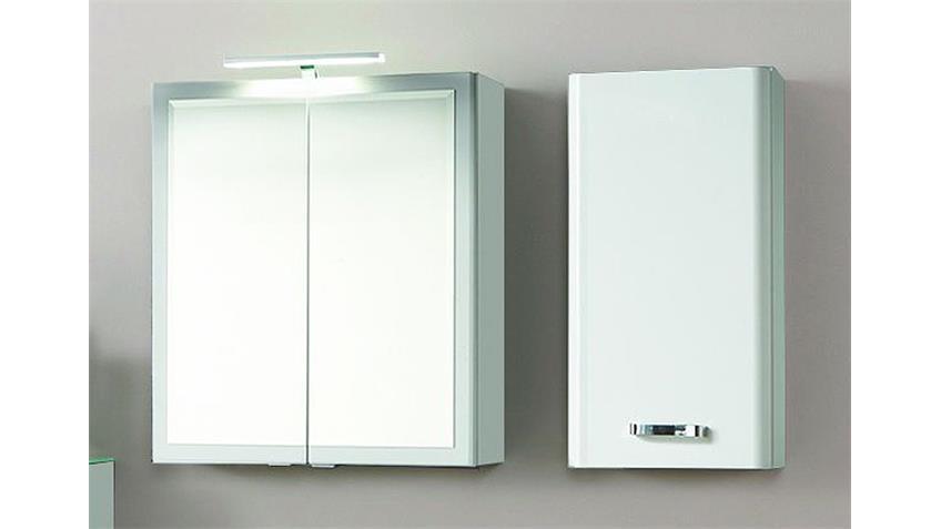 Badezimmer Set 1 PHÖNIX weiß Hochglanz Glas lackiert