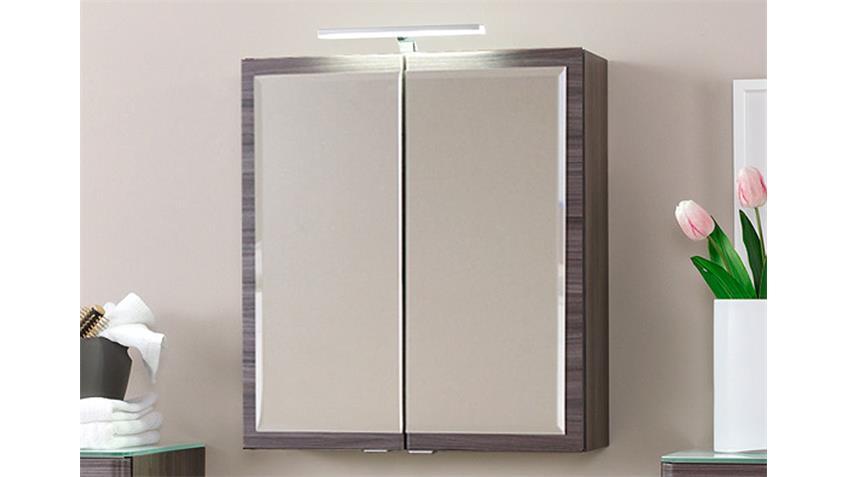Badezimmer Set 2 PHÖNIX Eiche dunkel Glas weiß lackiert