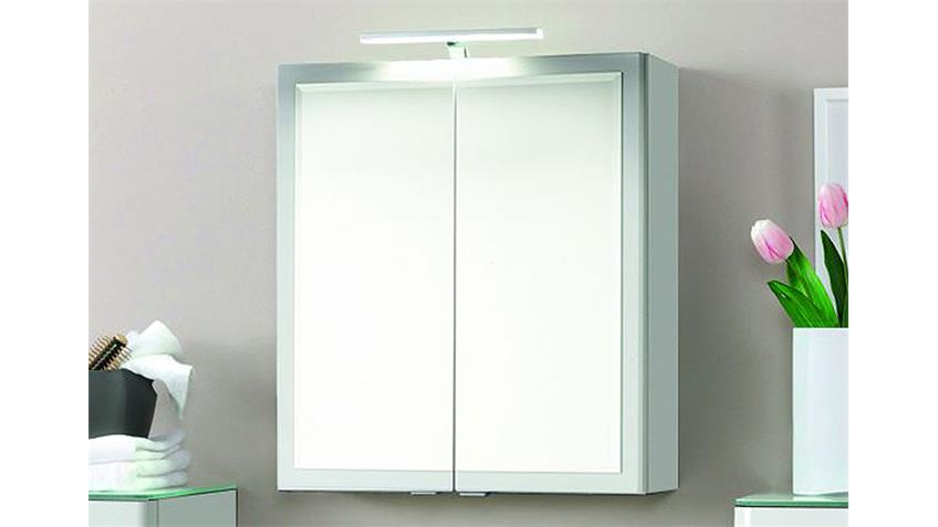 Badezimmer Set 2 PHÖNIX weiß Hochglanz Glas lackiert