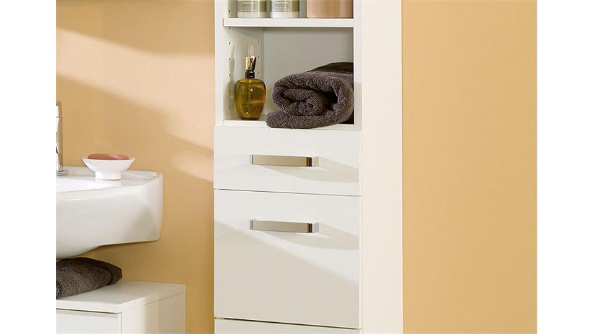 Badezimmer Set 1 CAPRI in weiß inkl. LED 5 tlg