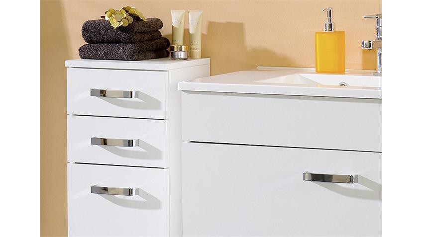 Badezimmer Set 2 CAPRI in weiß inkl. LED 5 tlg