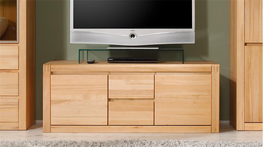 TV-Board PONTO Lowboard in Kernbuche teilmassiv 147 cm