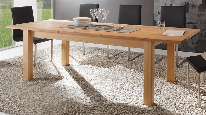 Esstisch PONTOS Tisch in Kernbuche teilmassiv 180-240 cm