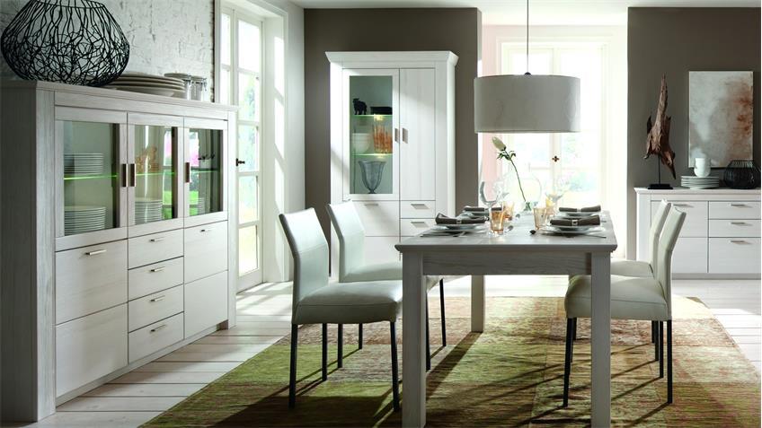 esstisch landhaus wei m bel interessante. Black Bedroom Furniture Sets. Home Design Ideas