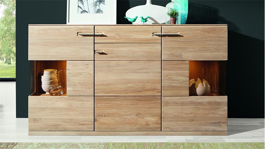 Sideboard OREGONS Kommode Anrichte in Eiche Bianco massiv