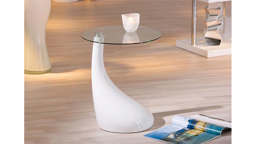 Beistelltisch DITO Couchtisch Tisch in weiß hochglanz 45 cm