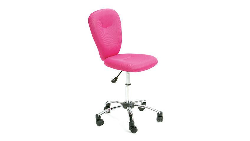 Drehstuhl PEZZI Bürostuhl Kinderstuhl Bezug in Mesh Pink