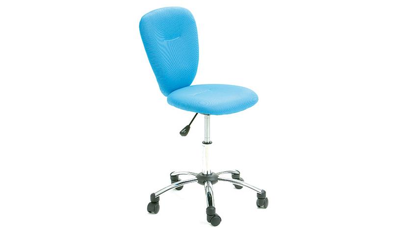 Drehstuhl PEZZI Bürostuhl Kinderstuhl Bezug in Mesh blau