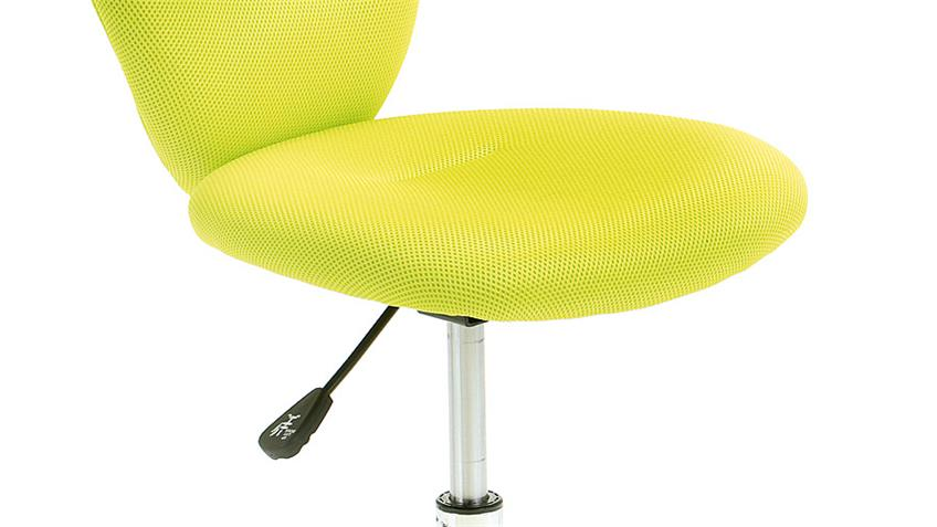 Drehstuhl PEZZI Bürostuhl Kinderstuhl Bezug in Mesh grün