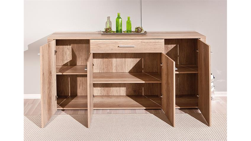 Sideboard ABSOLUTO Anrichte Kommode in Wildeiche Dekor