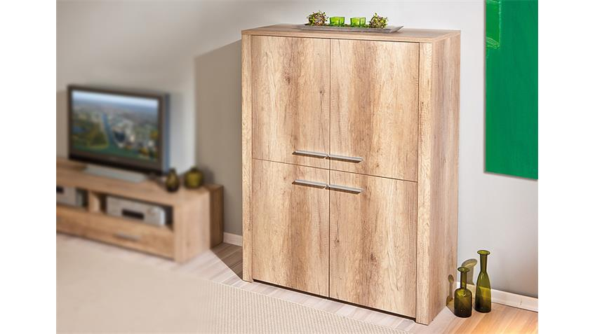 Highboard ABSOLUTO Buffet Schrank Board in Wildeiche Dekor