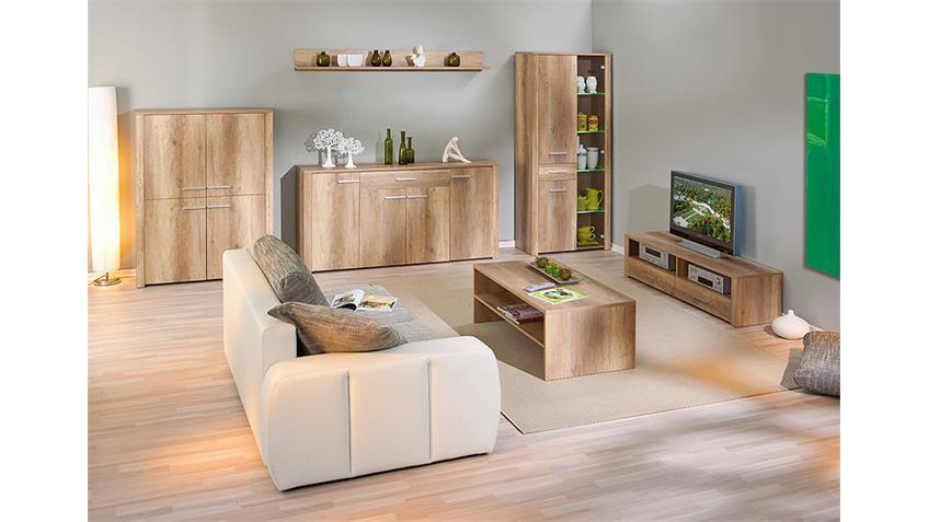 Highboard ABSOLUTO Buffet Schrank Board in Wildeiche Dekor