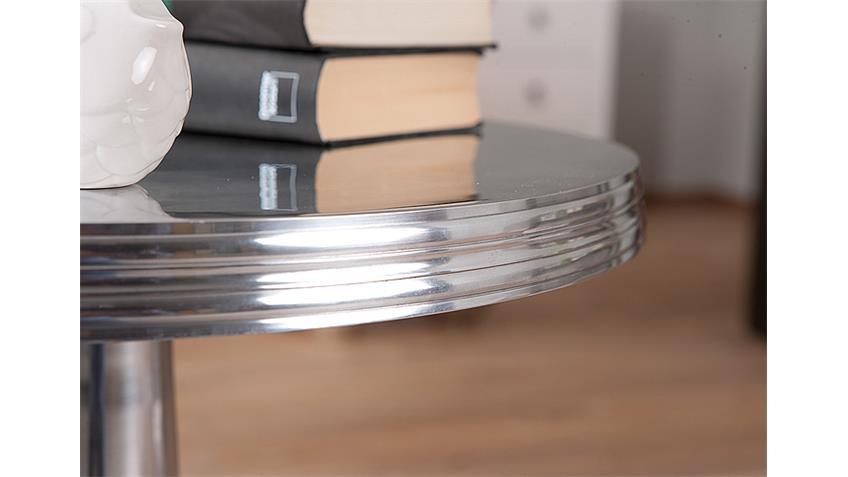 Beistelltisch NIME in Aluminium glanz silber 50x61 cm