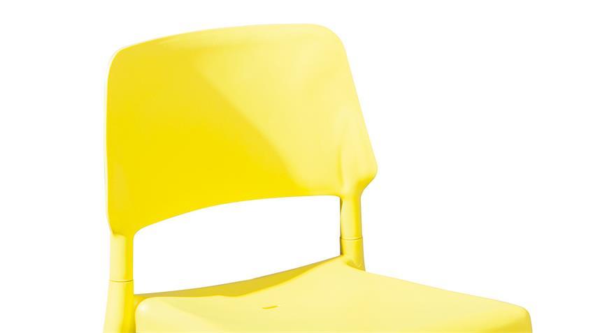Stuhl TILDE 4er-Set in gelb und Buche natur massiv