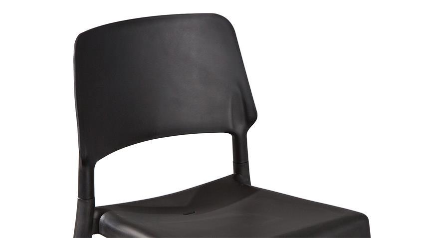 Stuhl TILDE 4er-Set in schwarz und Buche natur massiv