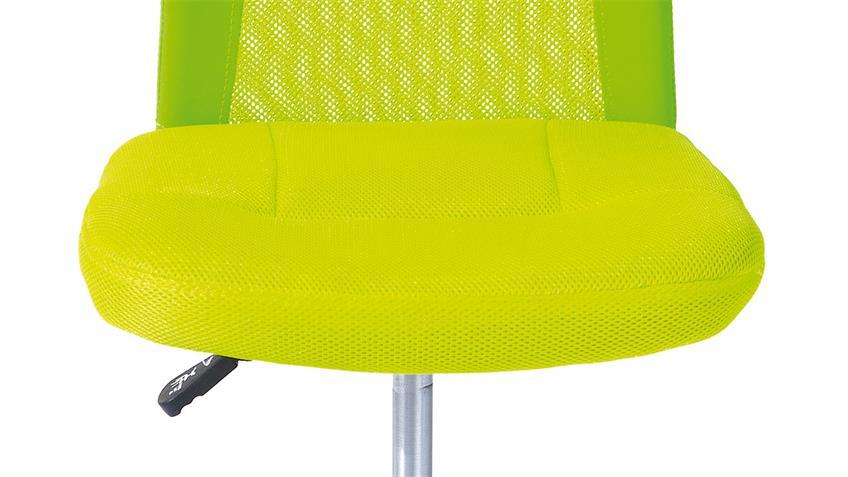 Drehstuhl BONNIE grün Metall Chrom Höhenverstellung TÜV
