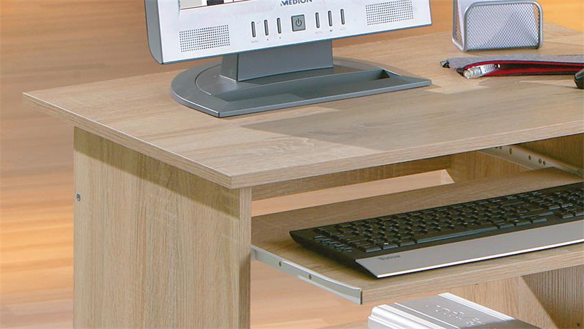 PC-Schreibtisch DURINI Computertisch in Sonoma Eiche