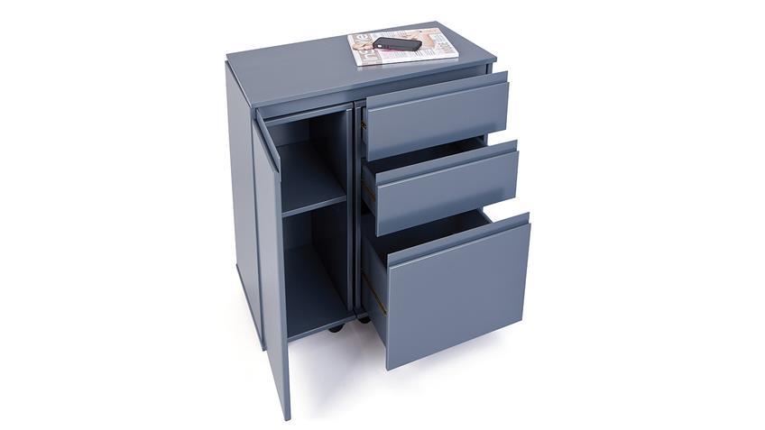 Schreibtisch LAPTOP OFFICE MDF grau lackiert ausziehbar