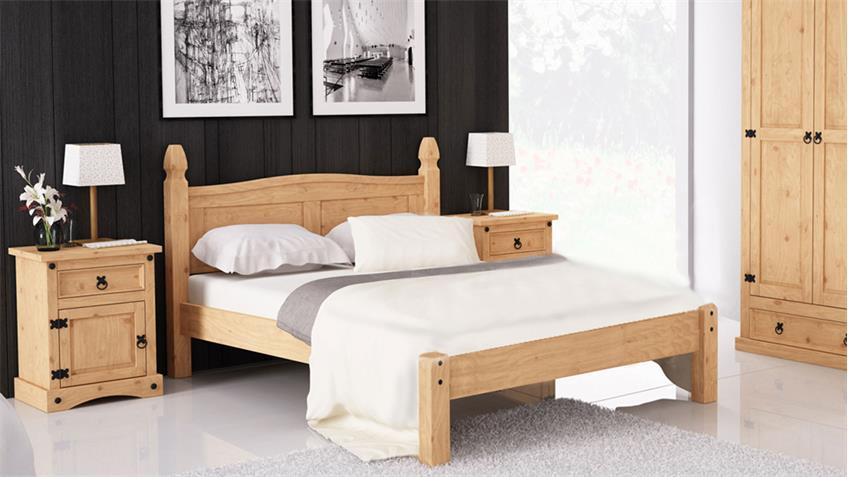 Schlafzimmerset Corona Pinie massiv honigfarben gewachst