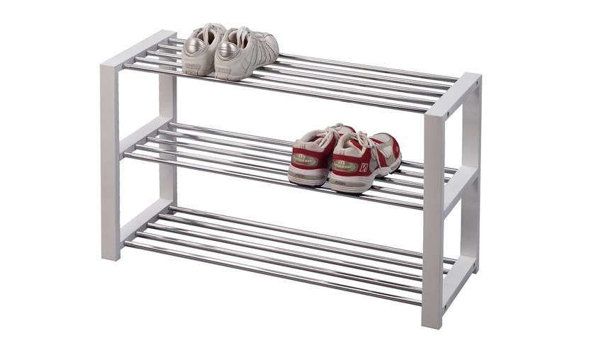 Schuhregal LUIS Schuhbank in weiß für 9 Paar Schuhe