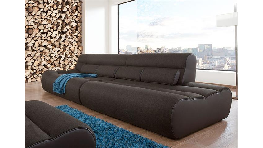 Sofa ELEMENTS XII Wohnlandschaft Megasofa 3-Sitzer in braun