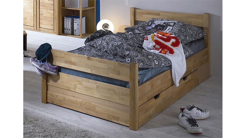 Kojenbett FYNN Bett Kinderbett in Erle teilmassiv 100x200