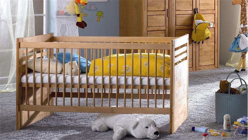 Babyzimmer VOLO Babymöbel Komplettzimmer in Erle teilmassiv