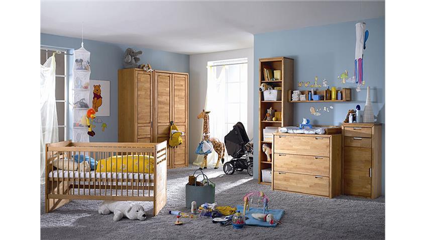 Babybett FYNN Kinderbett Bett in Erle teilmassiv 70x140 cm