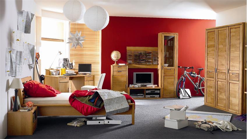 Jugendzimmer VOLO komplettes Kinderzimmer in Erle teilmassiv