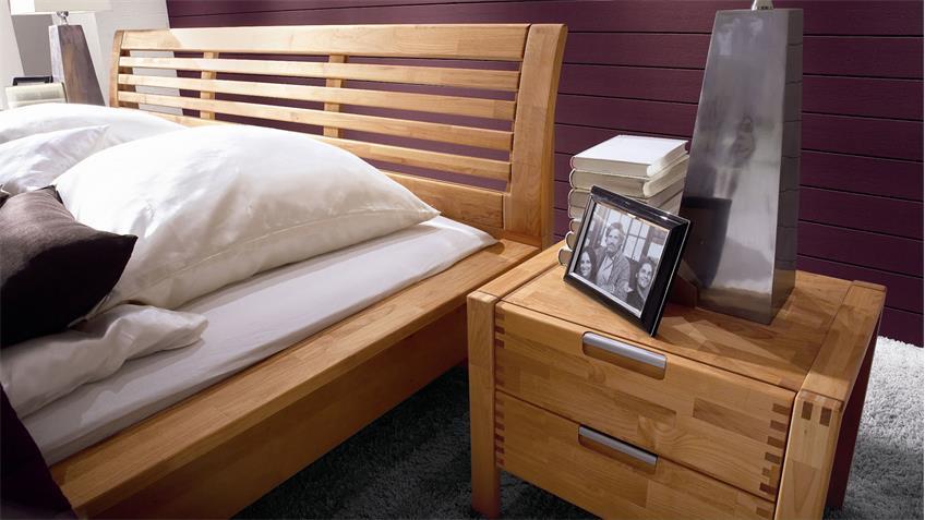 Schlafzimmer VOLO Erle teilmassiv Doppelbett Kleiderschrank 5-türig