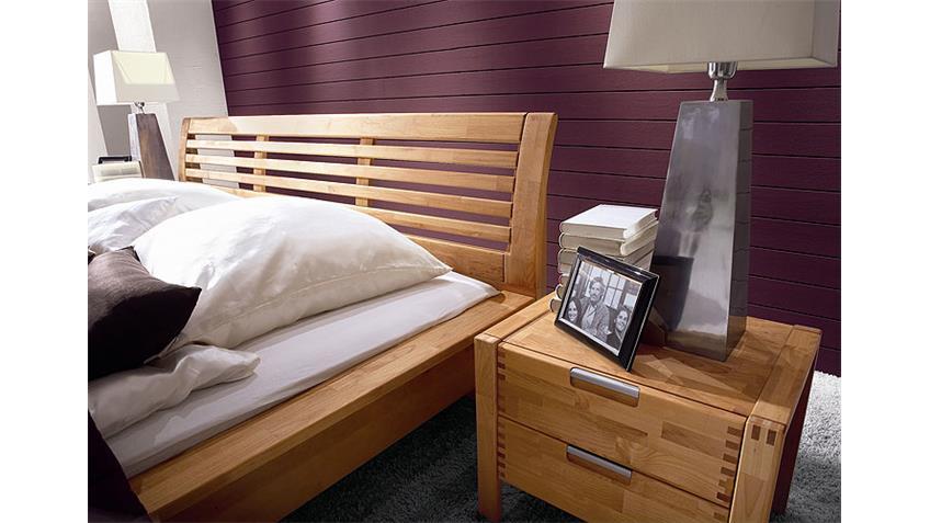Schlafzimmer Set FYNN Schrank Bett in Erle teilmassiv