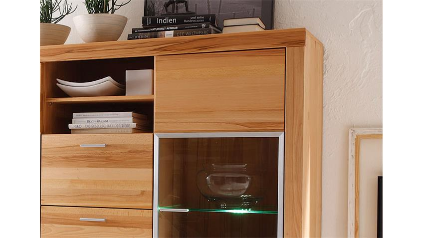 Highboard SAMIRA Kernbuche teilmassiv