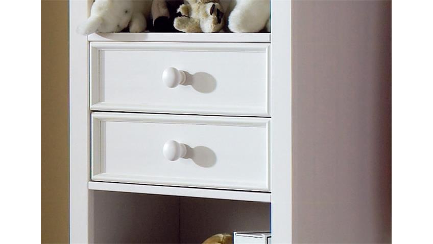 Standregal CINDERELLA PREMIUM Kiefer teilmassiv weiß