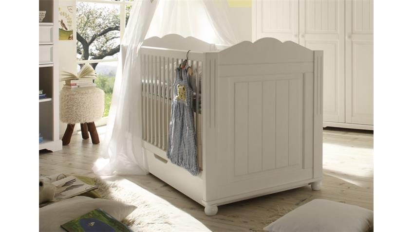 Kinderbett CINDERELLA PREMIUM 70x140 Kiefer teilmassiv weiß