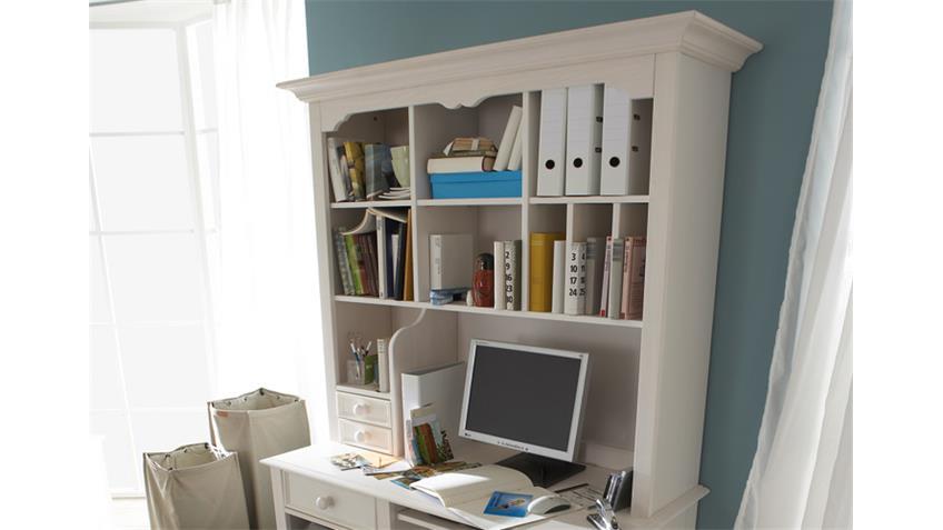 PC-Schreibtisch CINDERELLA PREMIUM Kiefer teilmassiv weiß