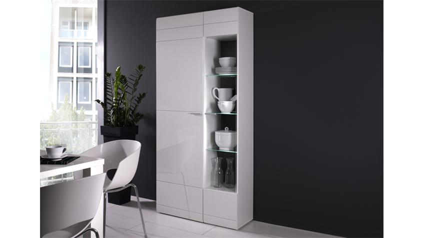 standvitrine links carero wohnzimmer vitrine wei hochglanz. Black Bedroom Furniture Sets. Home Design Ideas
