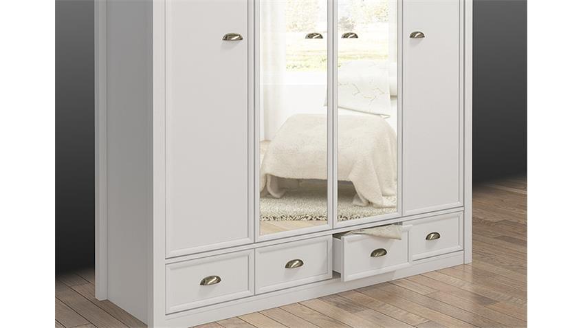 kleiderschrank chateau in wei und san remo eiche 180 cm. Black Bedroom Furniture Sets. Home Design Ideas