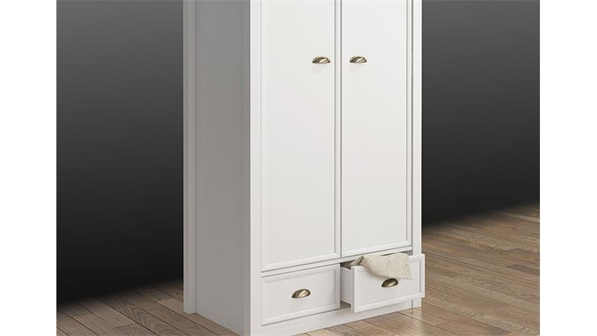 Kleiderschrank CHATEAU in weiß und San Remo Eiche 95 cm