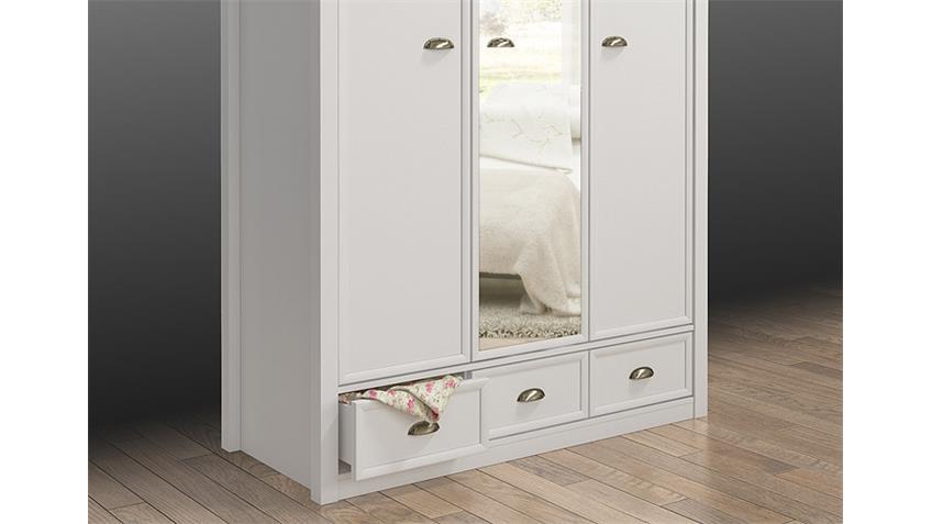 Kleiderschrank CHATEAU in weiß und San Remo Eiche 137 cm