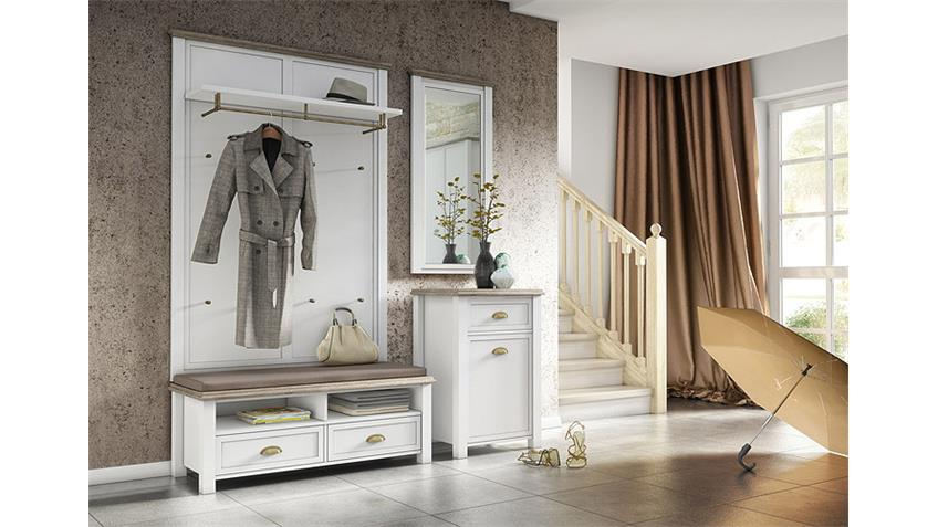 garderobe 2 chateau in wei und san remo eiche. Black Bedroom Furniture Sets. Home Design Ideas