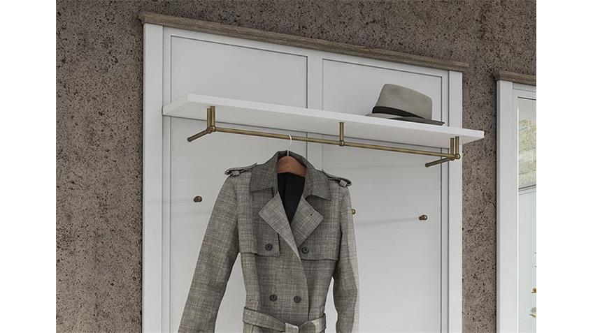 Garderobe 2 CHATEAU in weiß und San Remo Eiche