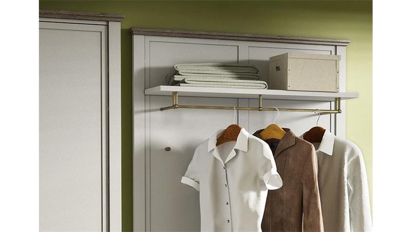 Garderobe 3 CHATEAU in weiß und San Remo Eiche