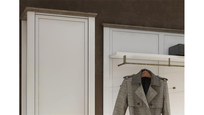 Garderobe 4 CHATEAU in weiß und San Remo Eiche