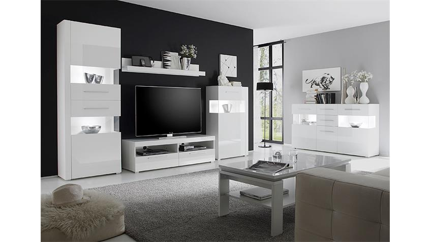 standvitrine 1 star mdf wei hochglanz tiefzieh links. Black Bedroom Furniture Sets. Home Design Ideas