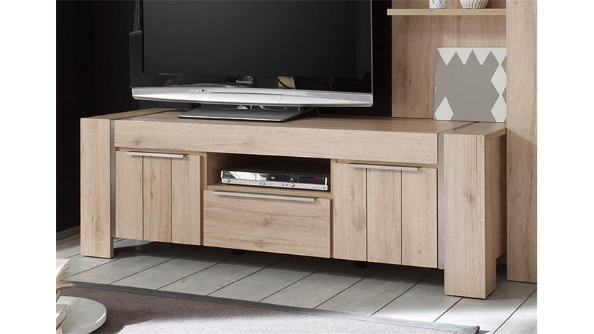 lowboard malm denmark eiche edelstahl optik geb rstet. Black Bedroom Furniture Sets. Home Design Ideas