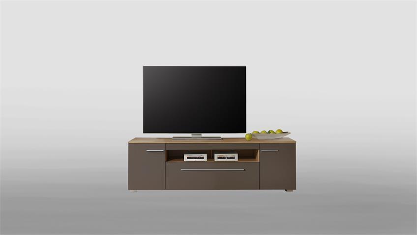 Lowboard XERO TV-Board Unterschrank grau Stone Oak Eiche