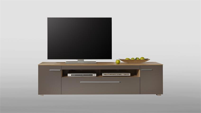 Lowboard XERO Unterschrank TV-Board grau Stone Oak Eiche