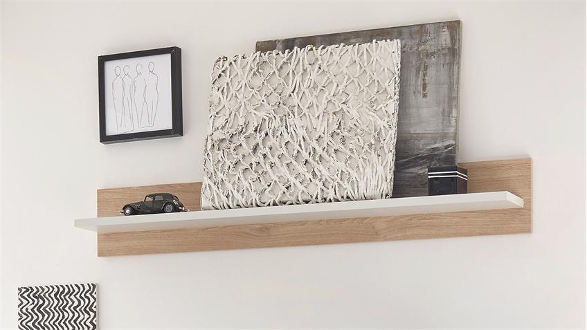 Wandboard LANDY in Nebelgrau Eiche Camargue B 130 cm
