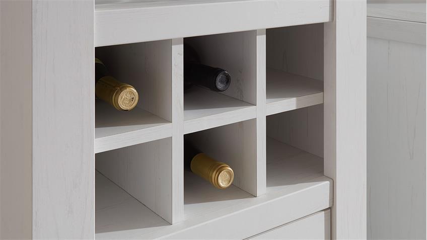 Regal WESTERLAND Pinie weiß m Flascheneinteilung B 58 cm